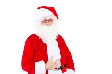 Santa Claus has eaten too much cookies