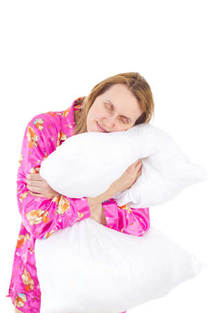 Lovely woman sleeping very good Stock Photo