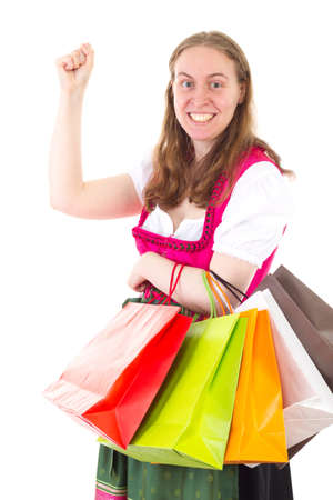well known: She found so many nice articles on shopping tour Stock Photo