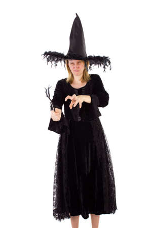 credence: Evil hag bewitching someone Stock Photo