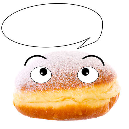 Cute donut with speech bubble