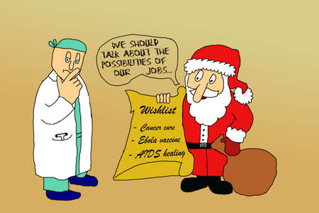 ebola: Doctors wishlist for Christmas Stock Photo