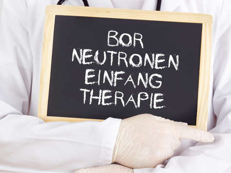 neutron: Doctor shows information: boron neutron capture therapy in german