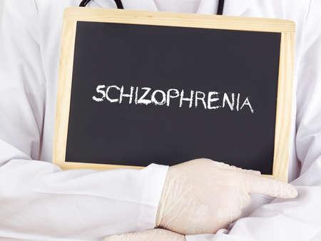 esquizofrenia: El doctor muestra informaci�n: Esquizofrenia