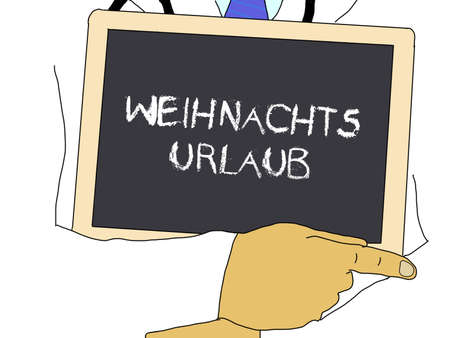 Doctor shows information: Christmas vacation in german
