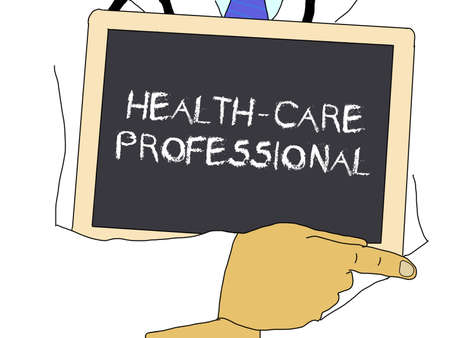 medico: Doctor shows information: Health-care professional