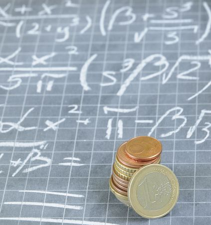mathematical formula for making money Stock Photo