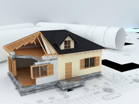 architect's model house