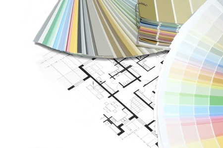 color swatch on technical drawings