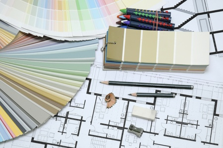 architecture plans Stock Photo