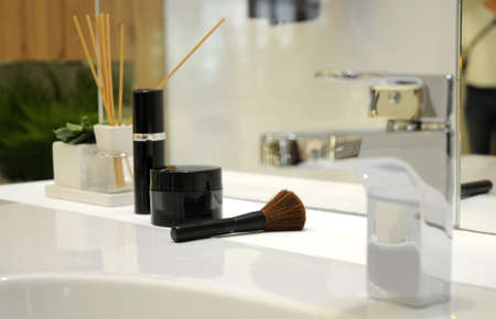bathroom design, makeup accessories Stock Photo
