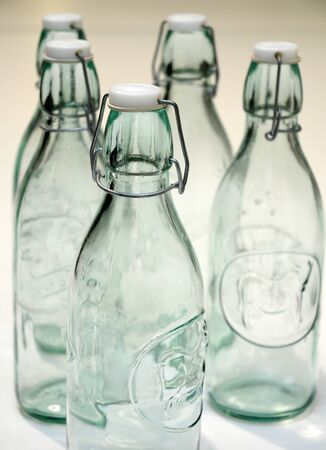 vintage bottles with cap