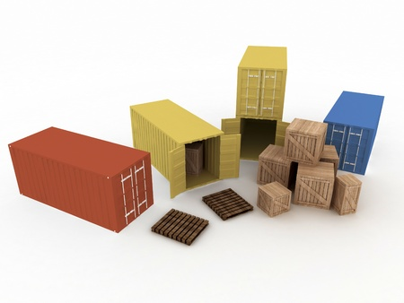 Cargo containers from the top