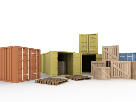 Stapel van de lading containers