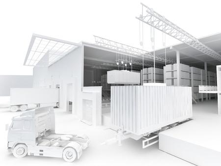 Scheepvaart en vracht industrie Stockfoto - 13292848