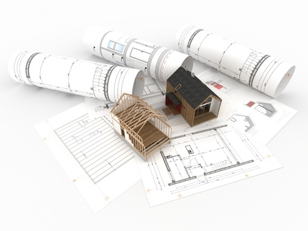 design and construction of wooden house top view