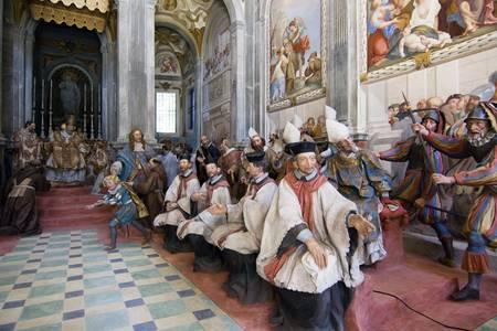 cappella: Sculture religiose  Foto de archivo