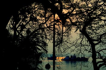 A beautiful sunset from princep ghat,kolkata,India