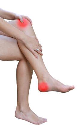 cramped: Acute pain in leg