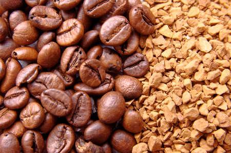 instant coffee: Coffee Beans & Instant coffee Background