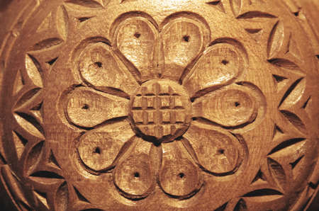 carved wood flower stock photo picture and royalty free image