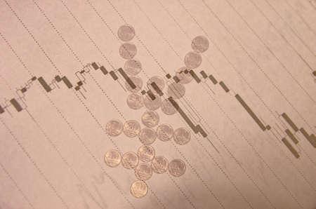 volatility: Stock tabla en la pantalla del PC y signo yen japon�s. Concepto financiero. Foto de archivo