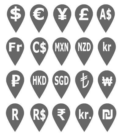 sheqel: World currency icons