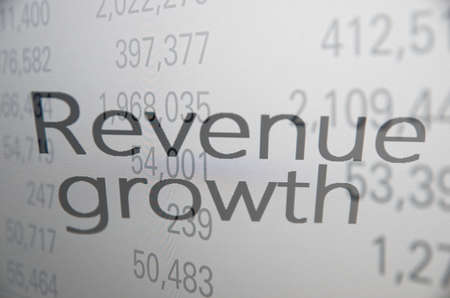 buy shares: Revenue growth Stock Photo