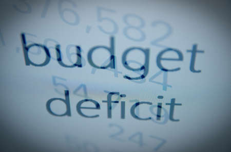 deficit: budget deficit text