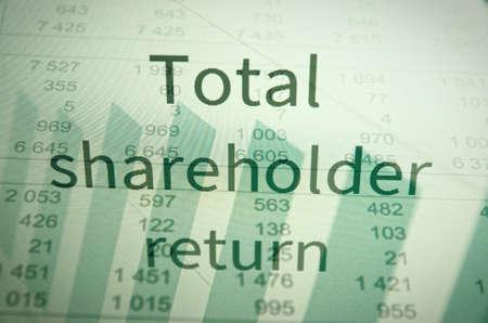 Inscription Total shareholder return. Financial concept. Stock Photo