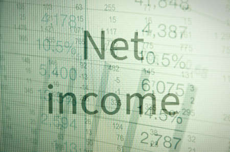 capitalization: Inscription net income. Corporate earning concept.