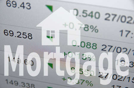 property management: Home icon Mortgage Stock Photo