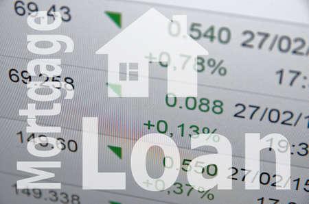 mortgage rates: Housing market concept