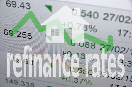 House icon  inscription refinance rates
