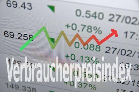 household money: Verbraucherpreisindex in consumer price index on German