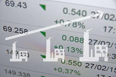electricity export: Growing economy concept. Stock Photo