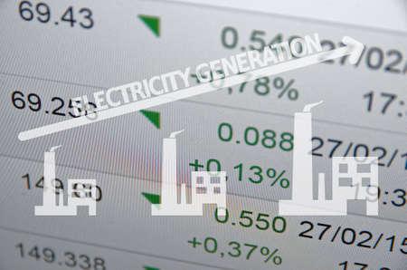 electricity generation: Electricity generation Stock Photo