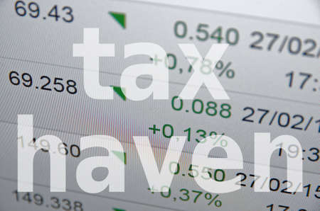 anonymity: Tax haven. Financial concept. Stock Photo
