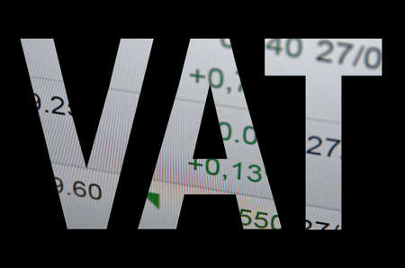 VAT Value Added Tax  commercial  taxation concept.