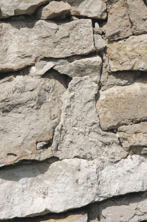 dry stone: Ancient dry stone wall. Rural view. Abstract background. Stock Photo