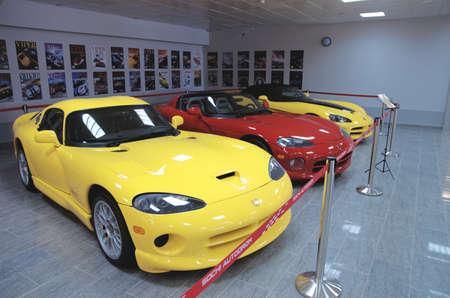 dodge: SOCHI, RUSSIA - JUNE 12, 2015: Collection of Dodge Viper cars in the Sochi Auto Museum, on June 12 2015. Editorial
