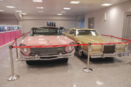 facelift: SOCHI, RUSSIA - JUNE 12, 2015: Collection of Lincoln Continental in the Sochi Auto Museum, on June 12 2015.