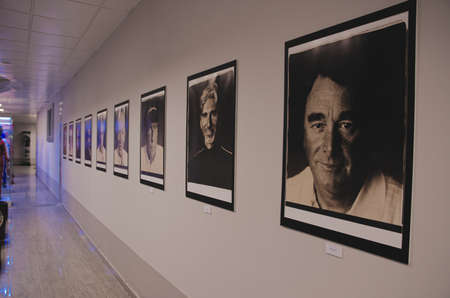 SOCHI, RUSSIA - JUNE 12, 2015: Photos of Formula One drivers in the Sochi Auto Museum, on June 12 2015.