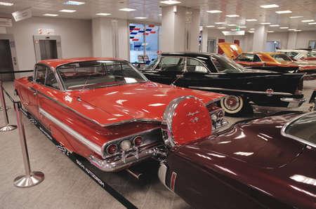classics: SOCHI, RUSSIA - JUNE 12, 2015: View on American classics car in the Sochi Auto Museum, on June 12 2015.