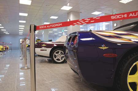 colouration: SOCHI, RUSSIA - JUNE 12, 2015: Chevrolet Corvette C5  in the Sochi Auto Museum, on June 12 2015.
