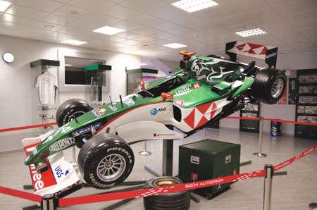 SOCHI, RUSSIA - JUNE 12, 2015: Formula One car in the Sochi Auto Museum, on June 12 2015.