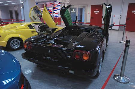 diablo: SOCHI, RUSSIA - JUNE 12, 2015: Lamborghini Diablo in the Sochi Auto Museum, on June 12 2015.