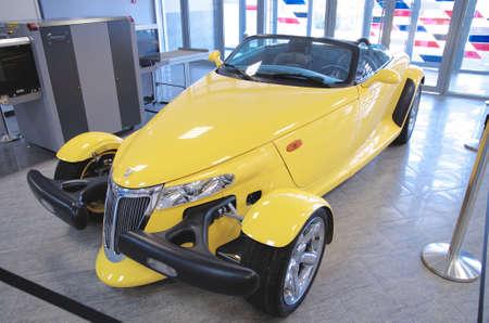 prowler: SOCHI, RUSSIA - JUNE 12, 2015: Plymouth Prowler in the Sochi Auto Museum, on June 12 2015.