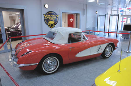corvette: SOCHI, RUSSIA - JUNE 12, 2015: Chevrolet Corvette C1 in the Sochi Auto Museum, on June 12 2015.
