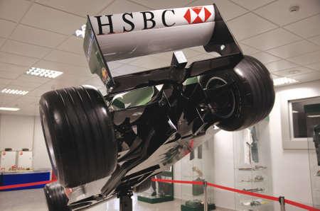 bolid: SOCHI, RUSSIA - JUNE 12, 2015: Formula One car in the Sochi Auto Museum, on June 12 2015.